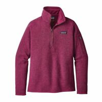 Patagonia women's Better Sweater quarter zip Magenta Fleece Pullover size Small