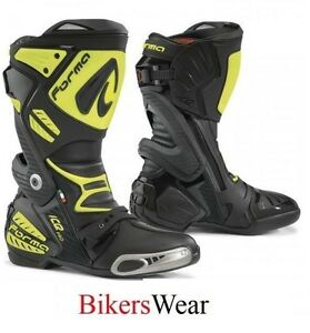 Forma Ice Pro Motorcycle/Motorbike Racing Boots-Fluo/yellow