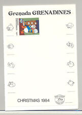 Grenada Grenadines #634 Disney Christmas Imperf Proof Attached to M/S Background