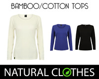 Bamboo Long Sleeved Top T-Shirt Blouse Women Premium 3 Colors Natural Clothes