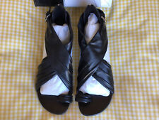 Bronx black leather sandals - Size 6 - New in box.