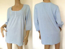 Sheego~Pastel Blue Top With White Polka Dots ~ Size 18/20 ~ [R7]