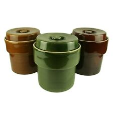 5L Ceramic Fermentation Crock Pot for Making Sauerkraut & Kimchi in 3 Colours