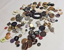 Vintage French Buttons-Large Lot-Various Shapes, Colors, Sizes-France Brocante