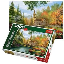 Trefl 4000 Piece Adult Large Autumn Setting Nostalgia Floor Jigsaw Puzzle NEW