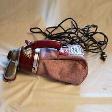 Vintage Royal Handheld Vacuum Red Heavy Duty 24' Power Chord Spin Brush Head