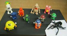 11- Vintage Mini Wind Up Toys Aviva Snoopy,Bally Midway Pacman ET, Tomy Toys