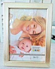 Foto Rahmen 9x13cm 4St. im Set Bilderrahmen aus Holz Natur/Gold stehend/hängend