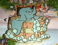Disney Pin Paris Baby Bébé Dumbo Elephant Bath Tub Baignoire Bubbles HTF