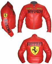 Ferrari Racing Real Leather Jacket