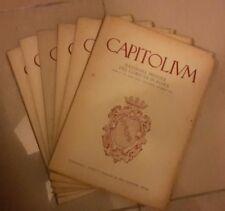 ANNATA RIVISTA CAPITOLIUM COMUNE DI ROMA CAPITOLIVM 1951