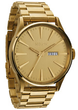 New Authentic NIXON Watch Mens the Sentry SS All Gold A356-502 A356502