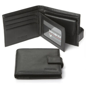 NEW Samsonite Business Leather Wallet with Coin Purse Black