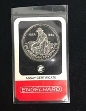 1984 ENGELHARD Platinum 99.95%  American Prospector 1oz in Assay, RARE 500 made!