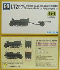 Sd.Kfz.2 Carroarmato e 8,8cm Lanciarazzi 43, 1/72, S-MODEL, Pacco Doppio, Nuovo