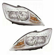 Ford Focus Mk2 2008-2011 Chrome Front Headlight Pair Left & Right Inc MOTOR