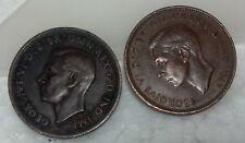 GB Gorgivs VI / Golden Hind Ship half penny bronze coin 1938 / 1943