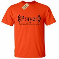 Preghiera Originale senza Fili Connection Preghiera Uomo T Shirt Religioso God