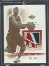 JASON KIDD 2003-04 ULTIMATE COLLECTION GOLD 3 COLOR NETS PATCH #D 17/100