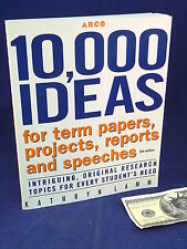 Term Papers Projects Ideas for Study Aid Book 10,000 Reports Speeches Lamm