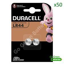 50 x Duracell LR44 1.5V Alkaline Button Cell Batteries LR 44 A76 AG13 357 SR44