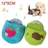 Pet Dog Puppy Plush Slipper Shape Squeaky Bite-resistant Scratch Chew Toy Eager