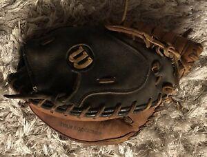 """Wilson A1860 Pro18 Pro Toe  Broken In Catchers Mitt Glove -Ivan Rodriguez 32"""""""