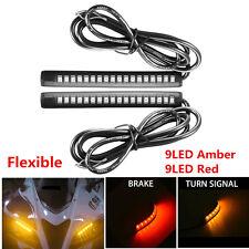 2Pcs Flexible 18LED Motorcycle Tail Brake Stop Turn Signal Strip Light Taillight