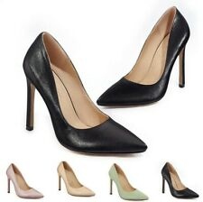 Womens Pointy Toe Stiletto High Heel Party Banquet Pumps Shallow Shoes 44/46 D