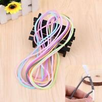 Spiral Phone USB Data Charging Cable Cord Wrap tector Winder 5/10Pcs Sale