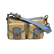 Coach Purse Legacy Satchel Signature C Shoulder Bag Khaki Blue  F13102 Sm Nwt