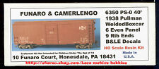 LMH Funaro F&C 6350  BESSEMER LAKE ERIE  B&LE BLE 40' Boxcar Pullman PS-0  1938