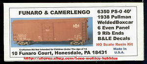 LMH Funaro F&C 6350  BESSEMER LAKE ERIE  B&LE BLE 40' Boxcar Pullman PS-0  1938
