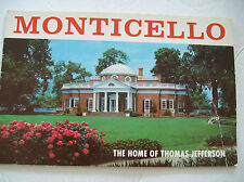 Vintage Monticello The Home of Thomas Jefferson Guide Tourist Pamphlet Book
