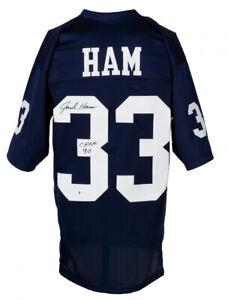 "Jack Ham Signed Penn State Jersey Inscribed ""CHOF 90"" (Beckett COA) Steelers L.B"