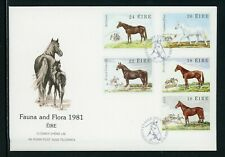 Ireland Scott #505-509 FIRST DAY COVER Famous Horses FAUNA $$