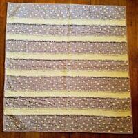 NEW~Purple Checkered & White Flowers Soft Rag Blanket Lap Quilt 40 x 41-Toddler