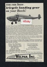 VOLPAR INC TURBINE POWERED BEECH 18 TRICYCLE LANDING GEAR ON YOUR BEECH AD