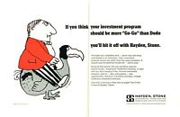 1966 Flightless DoDo Bird art by Tomi Ungerer Hayden Stone 2-page promo print ad