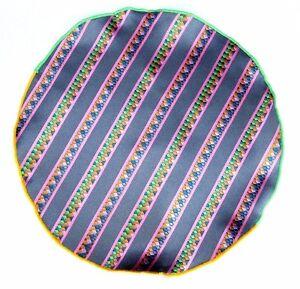 Lord R Colton Masterworks Pocket Gray Striped Survival Silk - $75 Retail New