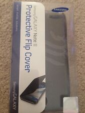 Genuine OEM Samsung Galaxy Note 2 II Protective Flip Cover Case - Titanium Gray
