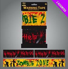 39FT Long Zombie Tape Scary Halloween Party Decoration Warning Prop Wall Banner