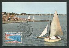 FRANCE MK 1965 LA BAULE SEGELBOOT SHIP BOAT MAXIMUMKARTE MAXIMUM CARD MC d5464