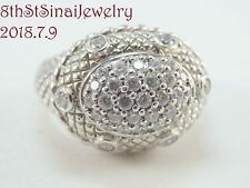 RETIRED J21570 Judith Ripka Sterling 1.00 ct tw Diamonique East West Ring Size 7