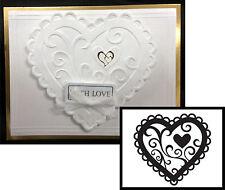 Valentine Heart embossing folder Darice embossing folders 1218-46