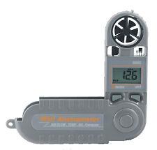 Anemometro portatile con bussola velocità temperatura umidità vento nautica