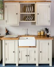 Handmade Belfast Sink Unit and Plate Rack. Freestanding Kitchen Furniture.