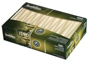 Bolsius Tapered Dinner Candles - 10 Inch - 100 Pack - Ivory