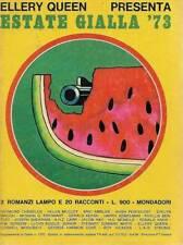 (Woolrich Coxe Chandler) Estate gialla 73 1973 Mondadori Elley Queen presenta