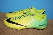 Nike Mercurial Vapor Youth kids Boys Soccer Shoes Yellow Green size 5.5 youth